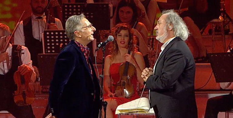 Maestro Diego Basso once again directs the Orchestra for the TV show MUSIC airing on Canale 5